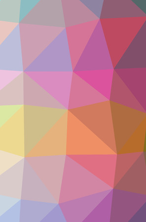 Illustration of abstract low poly red, orange and blue vertical background