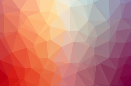 Illustration of abstract low poly red, yellow, blue, and brown horizontal background