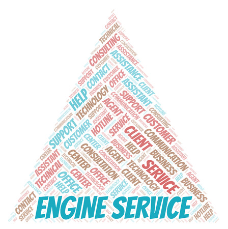 Engine Service word cloud. Wordcloud made with text only.