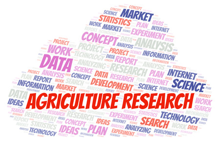 Agriculture Research word cloud. Wordcloud made with text only.