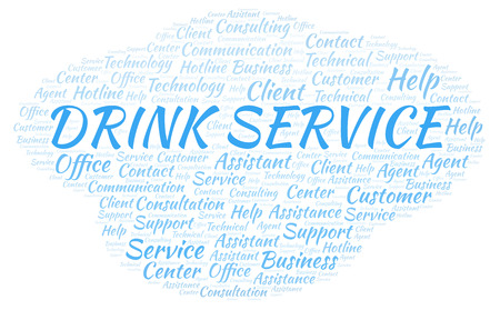Drink Service word cloud. Wordcloud made with text only.