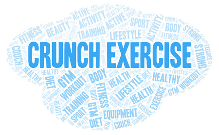 Crunch Exercise word cloud. Wordcloud made with text only.
