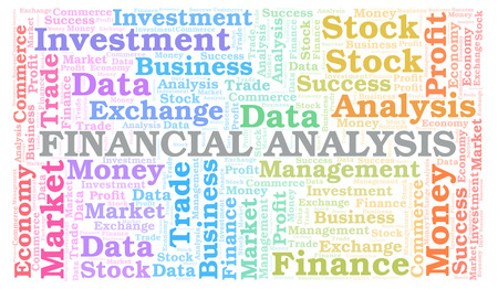 Financial Analysis word cloud, wordcloud made with text only.