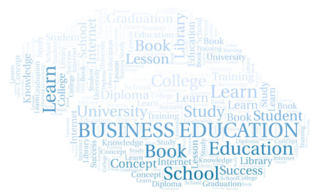 Business Education word cloud, wordcloud made with text only.