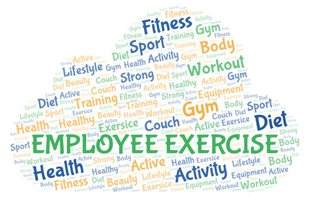 Employee Exercise word cloud. Wordcloud made with text only.