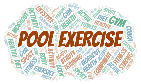 Pool Exercise word cloud. Wordcloud made with text only.