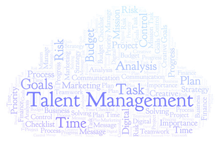 Talent Management word cloud, made with text only