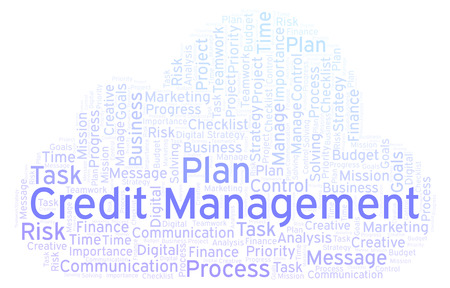 Credit Management word cloud, made with text only