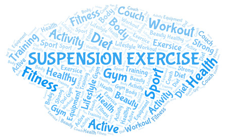 Suspension Exercise word cloud. Wordcloud made with text only.