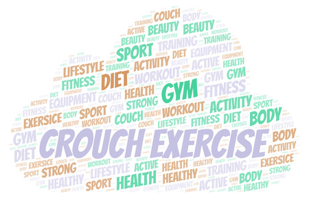 Crouch Exercise word cloud. Wordcloud made with text only.