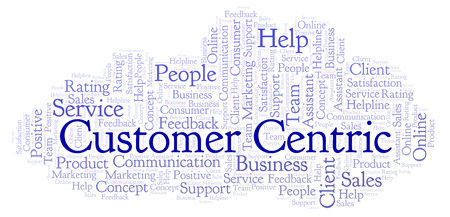 Customer Centric word cloud. Made with text only.