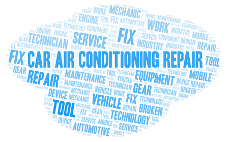 Car Air Conditioning Repair word cloud. Wordcloud made with text only.