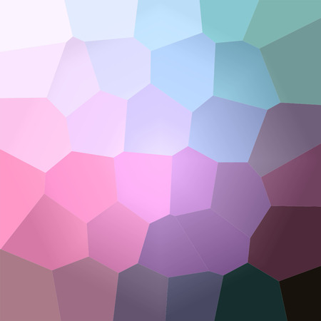 Illustration of abstract Magenta, Blue And Green Giant Hexagon Square background