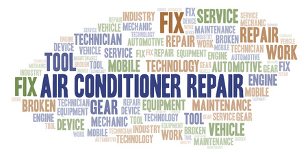 Air Conditioner Repair word cloud. Wordcloud made with text only.