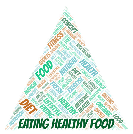Eating Healthy Food word cloud. Wordcloud made with text only.
