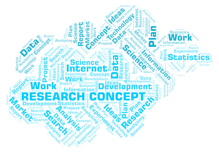 Research Concept word cloud. Wordcloud made with text only.