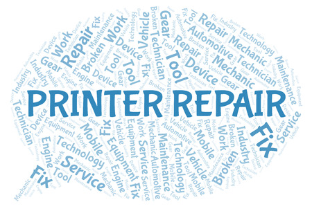 Printer Repair word cloud. Wordcloud made with text only.