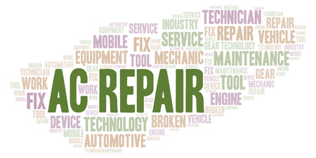 Ac Repair word cloud. Wordcloud made with text only.