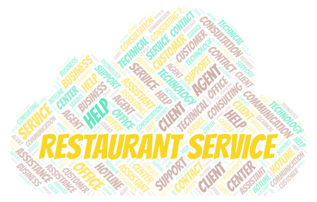 Restaurant Service word cloud. Wordcloud made with text only.