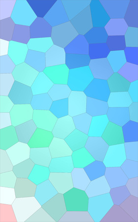 Abstract illustration of Vertical blue gree white and red bright Big Hexagon background, digitally generated