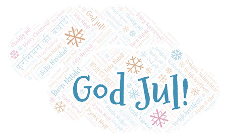 How Do You Say Merry Christmas In Swedish.God Jul Word Cloud Merry Christmas On Swedish Language International