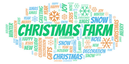 Christmas Farm word cloud. Wordcloud made with text only.