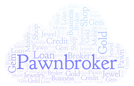 Pawnbroker word cloud. Wordcloud made with text only.