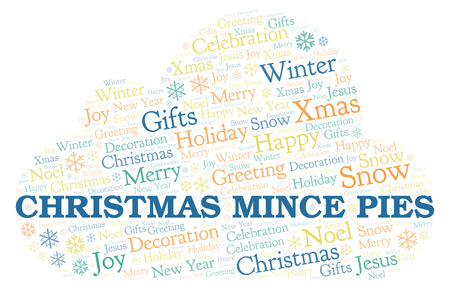 Christmas Mince Pies word cloud. Wordcloud made with text only.