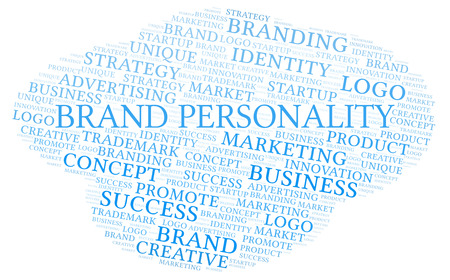 Brand Personality word cloud. Wordcloud made with text only. Stock Photo
