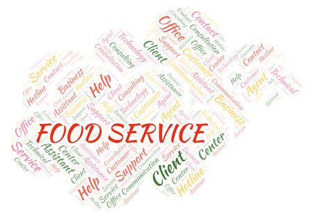 Food Service word cloud. Wordcloud made with text only.