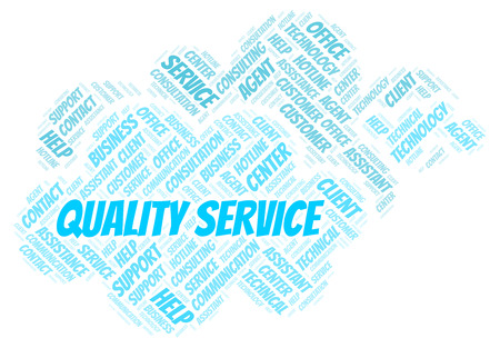 Quality Service word cloud. Wordcloud made with text only.