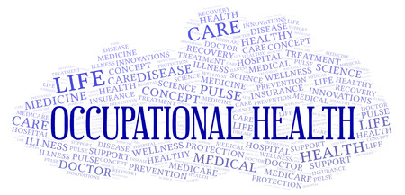 Occupational Health word cloud. Wordcloud made with text only. Foto de archivo - 113867233
