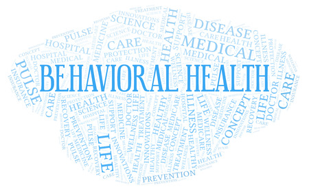 Behavioral Health word cloud. Wordcloud made with text only.