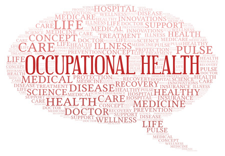 Occupational Health word cloud. Wordcloud made with text only.
