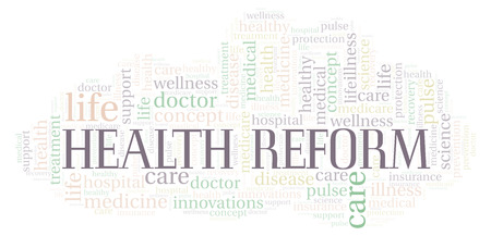 Health Reform word cloud. Wordcloud made with text only.