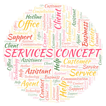 Services Concept word cloud. Wordcloud made with text only.
