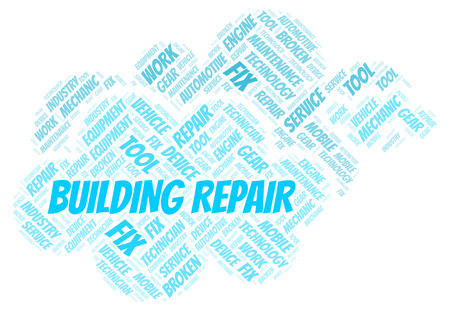 Building Repair word cloud. Wordcloud made with text only.