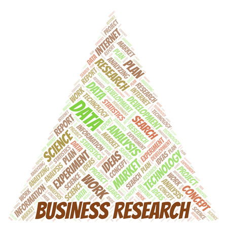 Business Research word cloud. Wordcloud made with text only.