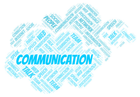 Communication word cloud. Wordcloud made with text only.