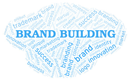 Brand Building word cloud. Wordcloud made with text only.