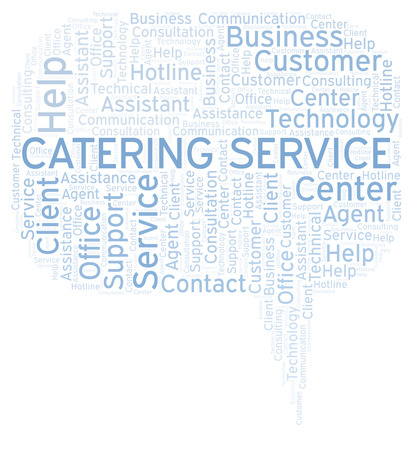 Catering Service word cloud. Wordcloud made with text only.