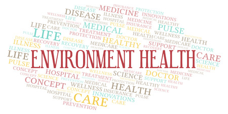 Environment Health word cloud. Wordcloud made with text only.