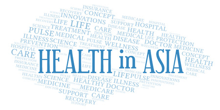 Health In Asia word cloud. Wordcloud made with text only.