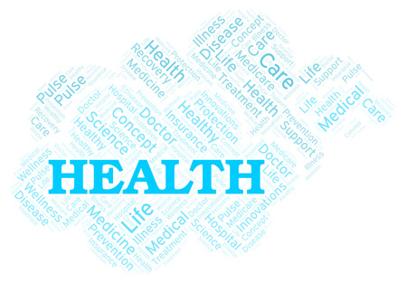 Health word cloud. Wordcloud made with text only.
