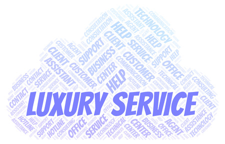 Luxury Service word cloud. Wordcloud made with text only.