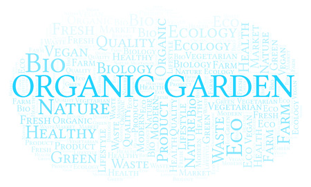 Organic Garden word cloud, wordcloud made with text only.