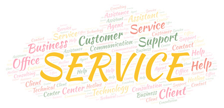 Service word cloud. Wordcloud made with text only.