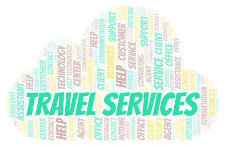 Travel Services word cloud. Wordcloud made with text only.