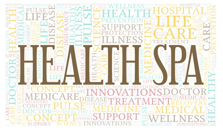 Health Spa word cloud. Wordcloud made with text only.