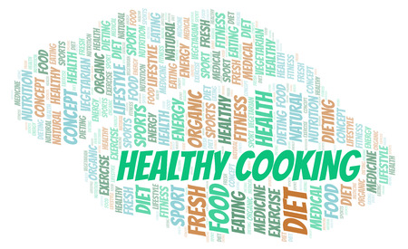 Healthy Cooking word cloud. Wordcloud made with text only.